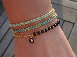 zwart en goud armband hamsa bedelarmband ideas bisutería hippie