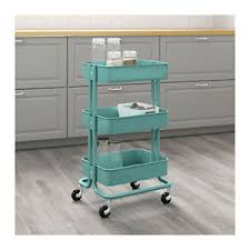ikea raskog trolley ikea raskog kitchen trolley turquoise castors shelves storage