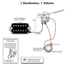 one humbucker wiring diagram diagram wiring diagrams for diy car