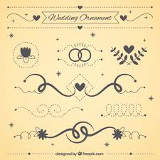 wedding ornaments free vectors ui