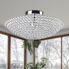 Flush Mount Chandeliers by The Leila Flush Mount Showcases A Stunning Chrome Finish That Is