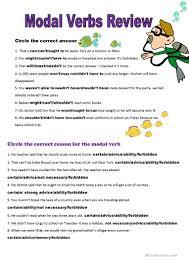 all modal verbs plus key worksheet free esl printable worksheets