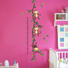 Monkey Baby Room Baby Nursery Decorative Kids Growth Chart Also As Wall Decor