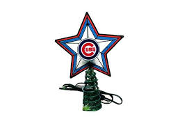 chicago cubs light up christmas tree topper item 432274 the