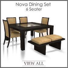 Dining Tables And 6 Chairs Brilliant 6 Seater Dining Set Six Table And Chairs At For