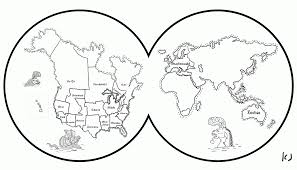 Map Of The World Blank by Coloring Pages Of The World Map Coloring Home