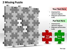 powerpoint slide image 6x6 missing puzzle piece template ppt