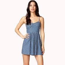 forever 21 bustier denim polka dot dress from cwizzy u0027s closet on