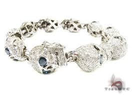 white gold bracelet bangles images Custom jewelry diamond skull bracelet 11754 jpeg