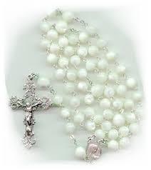 pearl rosary pearl rosaries official custom rosaries website made to order