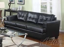 Black Leather Sleeper Sofa Black Leather 2 Sleeper Sofa Set By Acme 15061 S