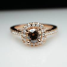 browns wedding rings unique cognac brown diamond engagement ring in 14k gold