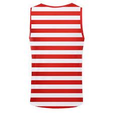 Red White Black Flag Patriotic American Flag Stars All Over Men Tank Top Shirt Mens