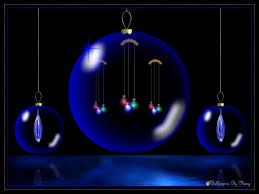 winter blue glow winter holidays ornaments globes