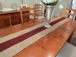 Holiday Table Runners by Burgundy And Natural Burlap Table Runner Holiday Table Runner