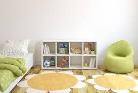 children bedroom design with flower shaped rug interior design