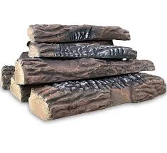 Propane Fireplace Logs by Set Of 10 Ceramic Fiber Propane Gel Ethanol Or Gas Fireplace Logs