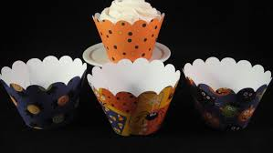 halloween cupcake wrappers kids collection cupcake holder