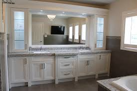Bathroom Double Sink Cabinets by Fully Renovated Bathroom Double Sink Vanity Offwhite Paint