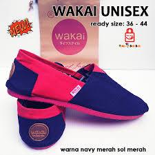 Sepatu Wakai sepatu wakai navy merah tokobelibeli