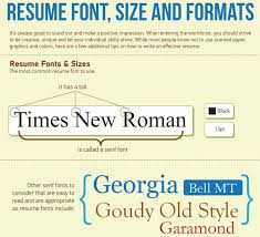 Best Font For Resume 2014 by Best Font For Academic Resume Graduate Resume Student