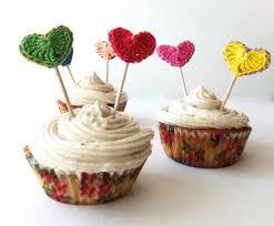 hearts cupcake topper 1st birthday decoration kids birthday