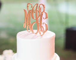 monogram wedding cake topper monogram cake topper etsy