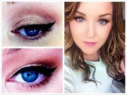 flattering blue eyes makeup tutorial how to make small eyes look bigger