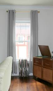 Gold Metallic Curtains Bloom How To Spray Painting Curtain Rods