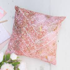 rose gold cushion cover handmade scandinavian home decor