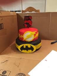 flash batman spiderman birthday cake cakecentral com