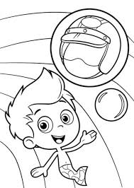 helmet gil bubble guppies coloring pages cartoon coloring pages