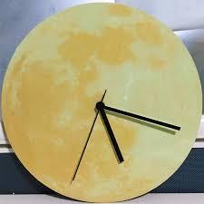 luminous wall clock luminous moon wall clock bell acrylic