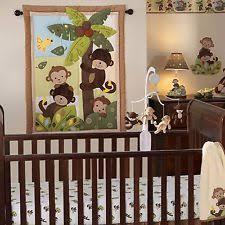 Baby Boy Monkey Crib Bedding Sets Monkey Crib Set Infant 4pc Jungle Bedding Nursery Baby Boy