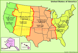 usa map with time zones and cities us time zone map with cities cdoovision