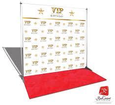 White Photo Backdrop Vip Birthday Backdrop Red Carpet Kit White 8x8 U2014 Red Carpet