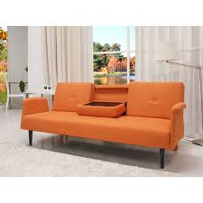 cambridge orange convertible sofa bed free shipping today