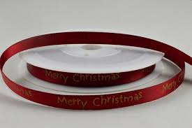 merry christmas ribbon 10mm burgundy merry christmas ribbon