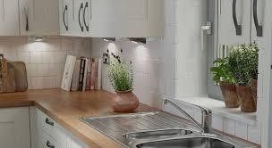 handleless kitchen in pebble wren kitchens