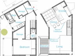 Tree House Floor Plan Small Family Home With A