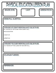 lesson plans phys ed review