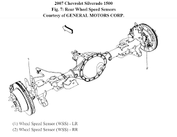 chevrolet silverado 2007 rear wheel speed sensor circuit erratic