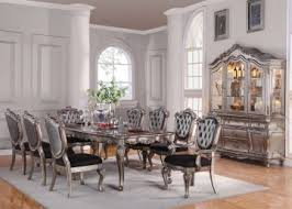 9pc dining room set acme chantelle 9pc dining room set in antique platinum by dining
