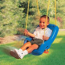 Newborn Swing Chair 2 In 1 Snug U0027n Secure Swing Blue At Little Tikes