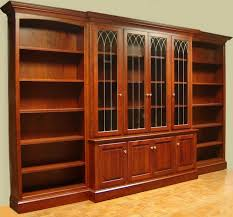 Cherry Wood Bookcase With Doors Cherry Wood Bookcases Glass Doors Design Interior Home Decor