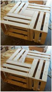 Diy Wood Crate Coffee Table by 615 Best Pallet Boxes Crates U0026 Chests Images On Pinterest