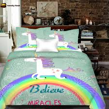 Unicorn Bed Set Believe In Miracles Unicorn Bedding Set Novelty Finds