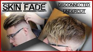 updated hairstyle skin fade disconnected undercut mens