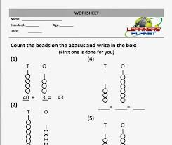 awesome collection of abacus addition and subtraction worksheets