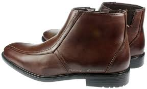 brass mens johnson smart brown zip up ankle chelsea boots